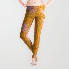 Quetzalcoatl Gold/Pink Leggings