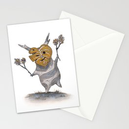 Little friend out of the woods Stationery Cards