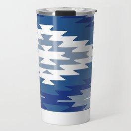 Kilim Rug Blue Travel Mug