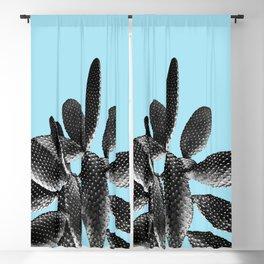 Black Light Blue Cactus #1 #plant #decor #art #society6 Blackout Curtain