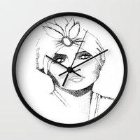 gypsy Wall Clocks featuring Gypsy by Harriet Hendricks