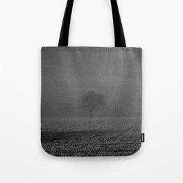 Foggy tree Tote Bag