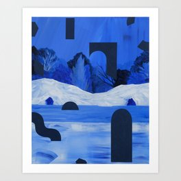Twin Caves Art Print