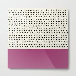 Raspberry x Dots Metal Print
