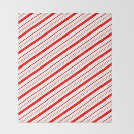 Candy Cane Stripes Throw Blanket