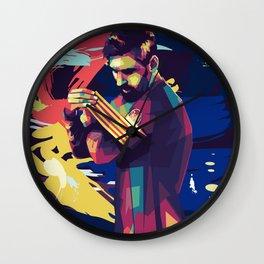 Lionel on WPAP Pop Art Portrait Wall Clock