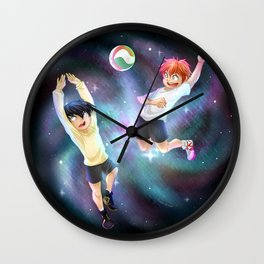 Galaxy volleyball Wall Clock