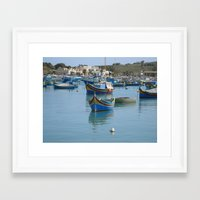 ships Framed Art Prints featuring Ships by fotog