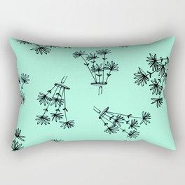 mint flower eaters Rectangular Pillow