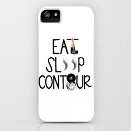EAT SLEEP CONTOUR iPhone Case