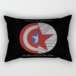Stucky Shields (With Quote) Rectangular Pillow
