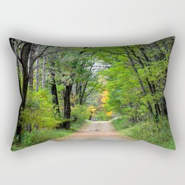 Back roads of my youth  Rectangular Pillow