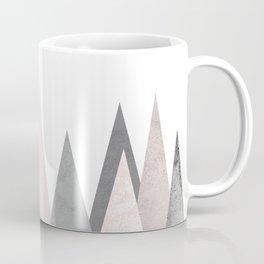 BLUSH MARBLE GRAY GEOMETRIC MOUNTAINS Coffee Mug