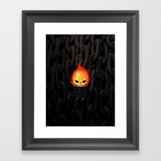 Chibi Ghost Rider Framed Art Print