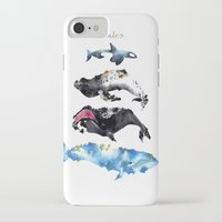 whales iPhone & iPod Cases featuring Whales by Amee Cherie Piek