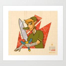 Link | Nintendo All-Stars #1 Art Print