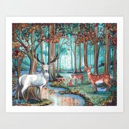 The White Stag Art Print