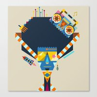 70s Canvas Prints featuring 70s by Jaye Kang