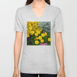 Colorful Flowers Hidden in Hawaiian Rainforest Unisex V-Neck