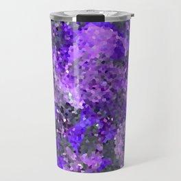 Aftermath of Spring, Abstract Floral Mosaic Art Travel Mug