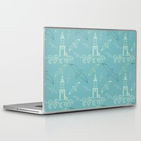 marine Laptop & iPad Skins featuring Marine pattern by LaDa