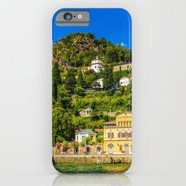 Lugano, Switzerland canton of Ticino bordering Italy, Lake Lugano village photograph iPhone Case
