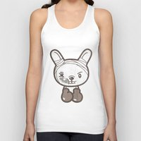 boxing Tank Tops featuring Boxing Bunny by pencilplus