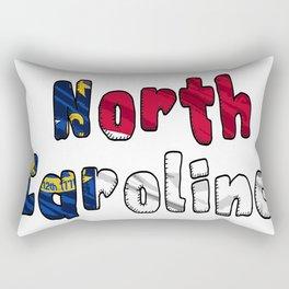 North Carolina Font with North Carolinian Flag Rectangular Pillow