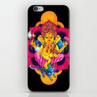 ganesh iPhone & iPod Skins featuring Ganesh by missfortunetattoo