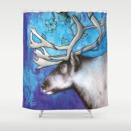 Frosty Reindeer Shower Curtain