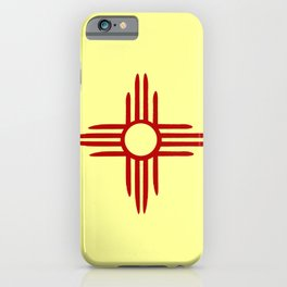 flag of new mexico hand drawn 2 iPhone Case
