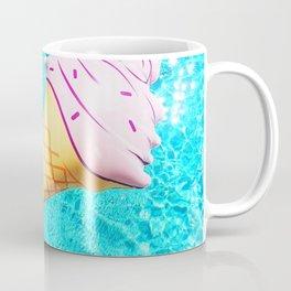 pink ice cream cone float all up in my pool yo Coffee Mug