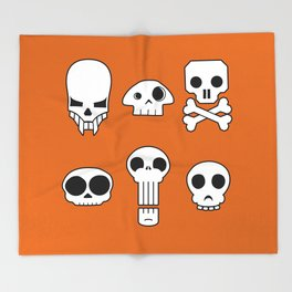 All skulls, all the time. Throw Blanket