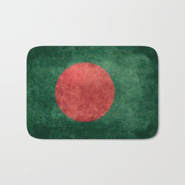 Flag of Bangladesh, Vintage Version Bath Mat