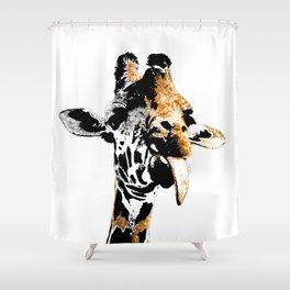 Silly Giraffe Shower Curtain