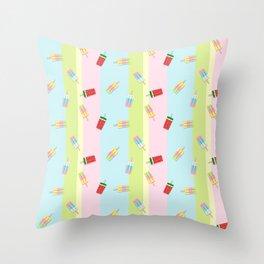 Popscicles Summer Pastel Colors Throw Pillow