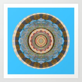 Centering and Focusing Peace Mandala Meditation Portal Art Print