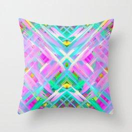 Colorful digital art splashing G473 Throw Pillow