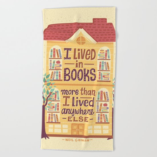 Lived in books Beach Towel