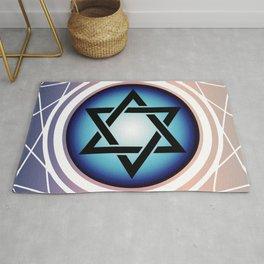 Jewish Star of David Rug