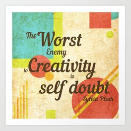 Inspirational Quote Sylvia Plath Art Print
