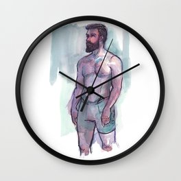 CHRIS, Semi-Nude Male by Frank-Joseph Wall Clock