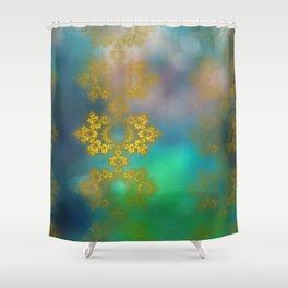 Gold lace decoration Shower Curtain