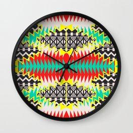 Tribal Beat Geo Neon Wall Clock