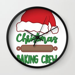 Cute Christmas Baking Crew Wall Clock