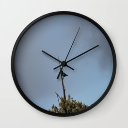 Perched Before the Storm Wall Clock