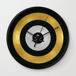 Precious Metal Target Wall Clock