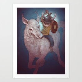 Boy and His Beast Art Print