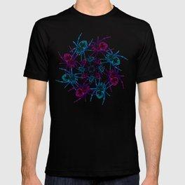 Neon spider spiral T-shirt