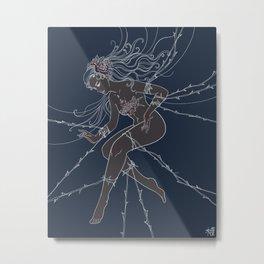 Flowergirl 05 - Rose Metal Print